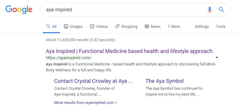 Aya Inspired Google Results