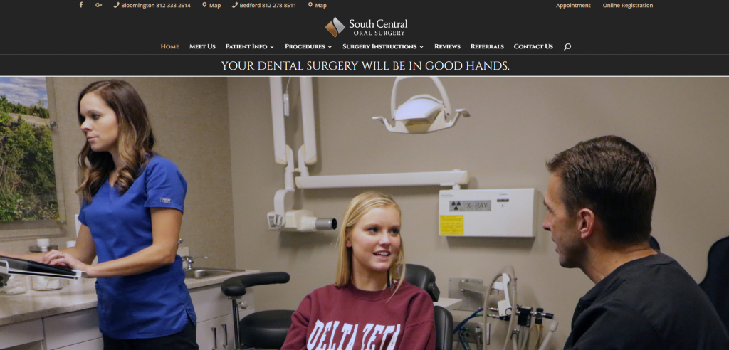 South Central Oral Surgery Website Screenshot